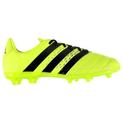 Ghete de fotbal adidas Ace 16.3 din piele FG pentru copii solar galben