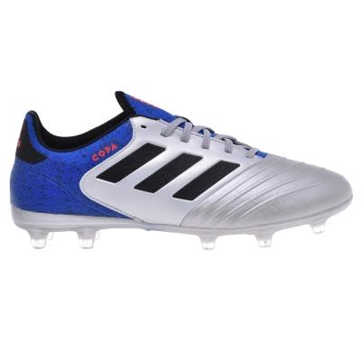 Ghete de fotbal adidas Copa 18.2 FG pentru Barbati argintiu negru albastru