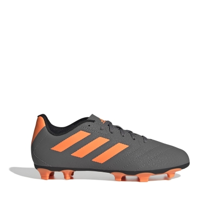 Ghete de fotbal adidas Goletto FG pentru copii gri portocaliu