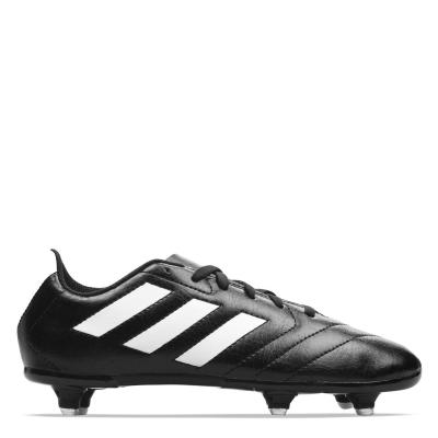 Ghete de fotbal adidas Goletto SG pentru copii negru alb