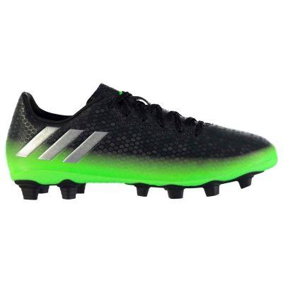 Ghete de fotbal adidas Messi 16.4 FG pentru Barbati gri inchis solgreen