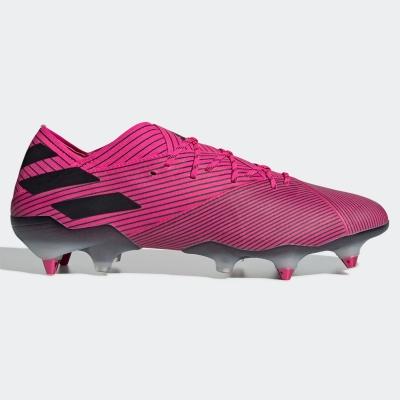 Ghete de fotbal adidas Nemeziz 19.1 gazon sintetic roz negru