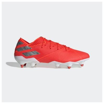 Ghete de fotbal adidas Nemeziz 19.1 gazon sintetic rosu argintiu