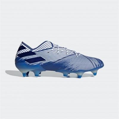 Ghete de fotbal adidas Nemeziz 19.1 gazon sintetic alb teamroyal