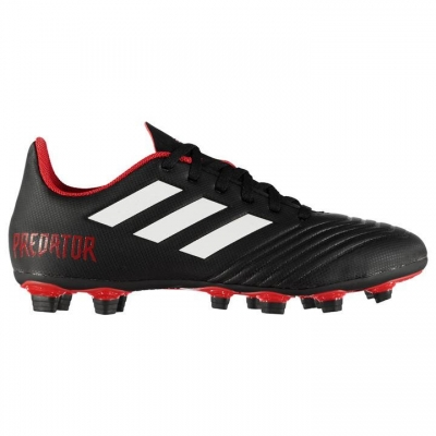 Ghete de fotbal adidas Predator 18.4 FxG pentru Barbati negru alb rosu