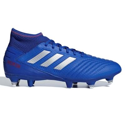 Ghete de fotbal adidas Predator 19.3 SG pentru Barbati albastru argintiu