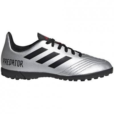 Ghete de fotbal Adidas Predator 194 gazon sintetic Silver G25825 copii