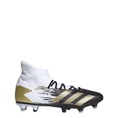 Ghete de fotbal adidas Predator 20.3 gazon sintetic alb auriu