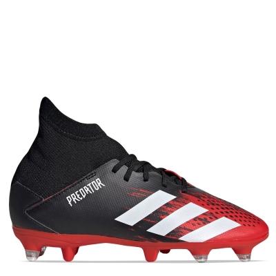 Ghete de fotbal adidas Predator 20.3 SG pentru copii negru alb rosu