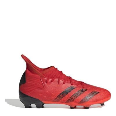 Ghete de fotbal adidas Predator Freak .3 FG pentru copii rosu
