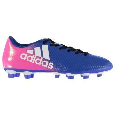 Ghete de fotbal adidas X 16.4 FG pentru Barbati albastru alb roz