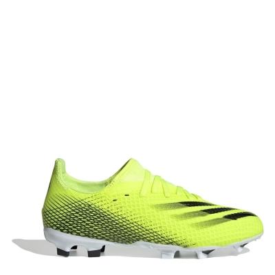 Ghete de fotbal adidas X .3 FG pentru copii galben albastru