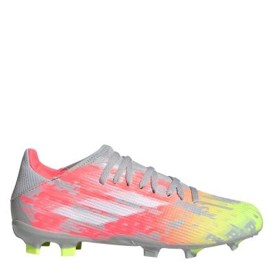 Ghete de fotbal adidas X .3 FG pentru copii onix alb galben