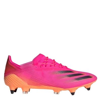 Ghete de fotbal adidas X .1 SG roz portocaliu