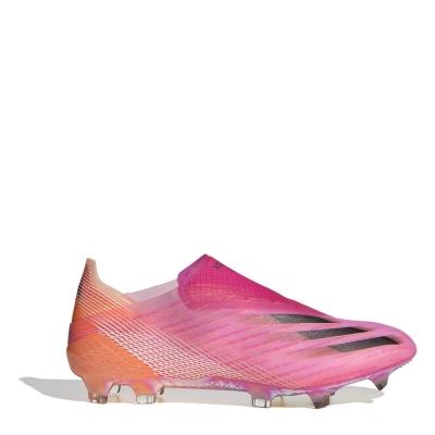 Ghete de fotbal adidas X+ FG roz portocaliu