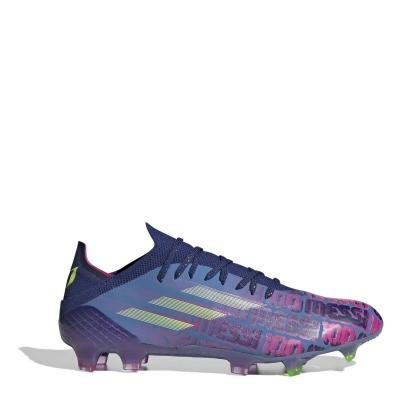 Ghete de fotbal adidas X Messi .1 FG albastru roz