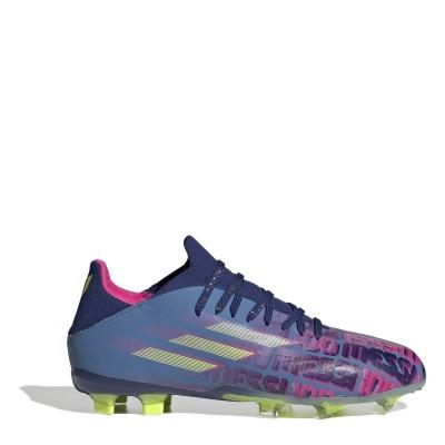 Ghete de fotbal adidas X Messi .1 FG pentru copii albastru roz