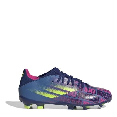 Ghete de fotbal adidas X Messi .3 FG pentru Copii albastru roz