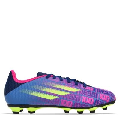 Ghete de fotbal adidas X Messi .4 FG albastru roz