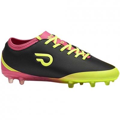 Ghete de fotbal Gedo Calzsol FG negru-galben-roz 1601 pentru copii