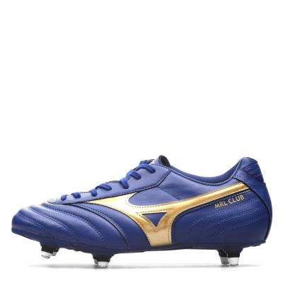 Ghete de fotbal Mizuno Morelia Club SI SG albastru auriu