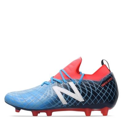Ghete de fotbal New Balance Tekela Pro din piele FG albastru rosu