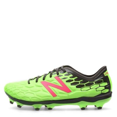 Ghete de fotbal New Balance Visaro Pro FG verde lime roz