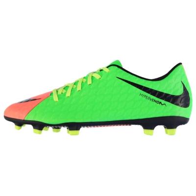 Ghete de fotbal Nike Hypervenom III 3 Phade FG pentru Barbati verde negru