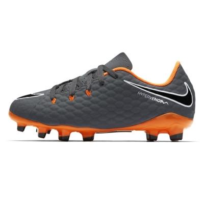 Ghete de fotbal Nike Hypervenom Phantom Academy FG pentru Copii gri inchis portocaliu