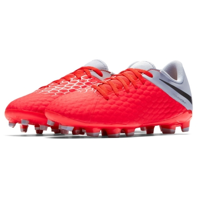 Ghete de fotbal Nike Hypervenom Phantom Academy FG pentru copii rosu inchis gri