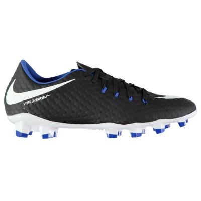 Ghete de fotbal Nike Hypervenom Phelon III FG pentru Barbati negru alb albastru roial
