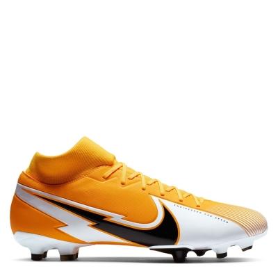 Ghete de fotbal Nike Mercurial Superfly Academy DF FG laserorange alb