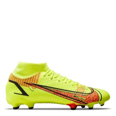 Ghete de fotbal Nike Mercurial Superfly Academy DF FG galben rosu inchis