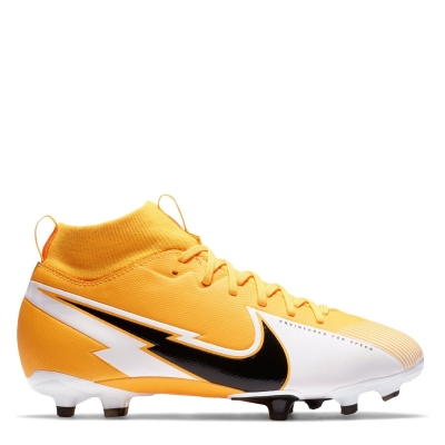 Ghete de fotbal Nike Mercurial Superfly Academy DF FG pentru copii laserorange alb