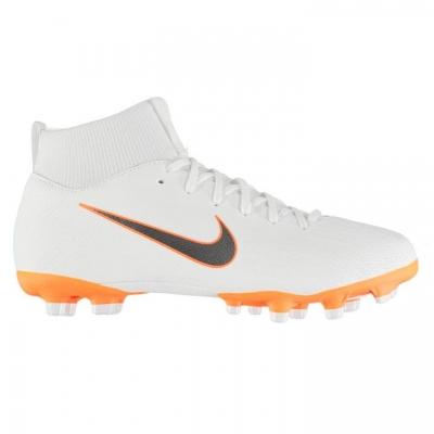 Ghete de fotbal Nike Mercurial Superfly Academy DF FG pentru copii alb portocaliu