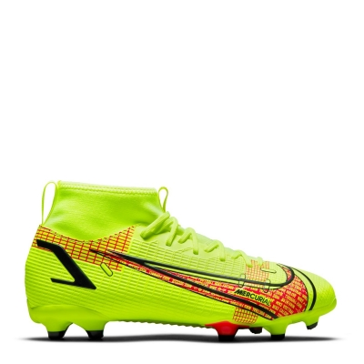 Ghete de fotbal Nike Mercurial Superfly Academy DF FG pentru copii galben rosu inchis