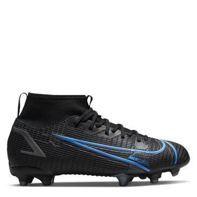 Ghete de fotbal Nike Mercurial Superfly Academy DF FG pentru copii negru univblue