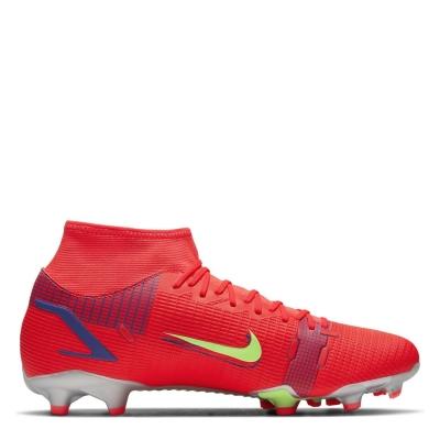 Ghete de fotbal Nike Mercurial Superfly Academy DF FG rosu inchis verde