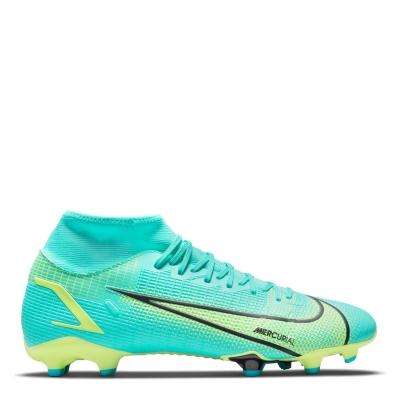 Ghete de fotbal Nike Mercurial Superfly Academy DF FG turcoaz verde lime
