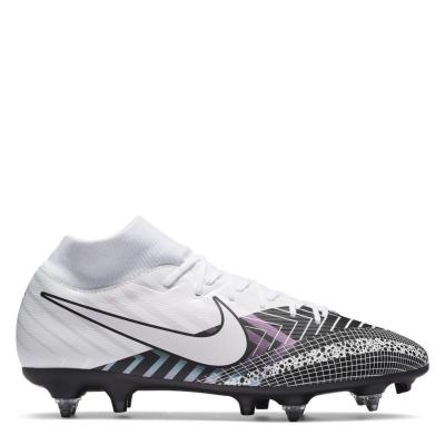 Ghete de fotbal Nike Mercurial Superfly Academy DF SG alb blackmds