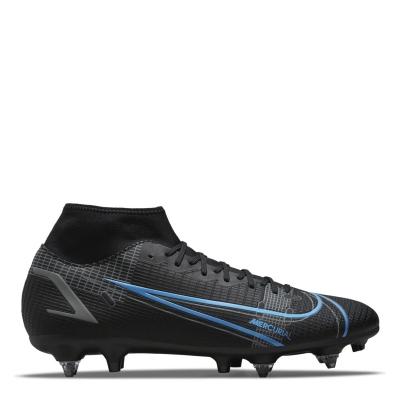 Ghete de fotbal Nike Mercurial Superfly Academy DF SG negru univblue