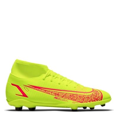 Ghete de fotbal Nike Mercurial Superfly Club DF FG galben rosu inchis