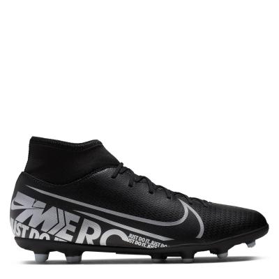 Ghete de fotbal Nike Mercurial Superfly Club DF FG negru gri inchis