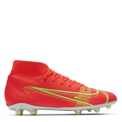 Ghete de fotbal Nike Mercurial Superfly Club DF FG rosu inchis verde