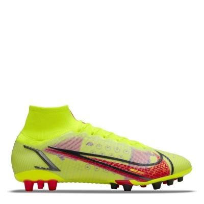 Ghete de fotbal Nike Mercurial Superfly Elite DF Artificial Ground galben rosu inchis