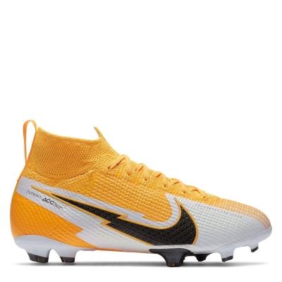Ghete de fotbal Nike Mercurial Superfly Elite DF FG pentru copii laserorange alb