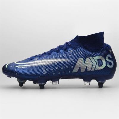 Ghete de fotbal Nike Mercurial Superfly Elite DF SG albastru argintiu