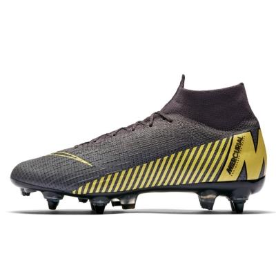 Ghete de fotbal Nike Mercurial Superfly Elite DF SG gri inchis galben