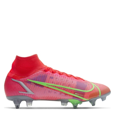 Ghete de fotbal Nike Mercurial Superfly Elite DF SG rosu inchis verde
