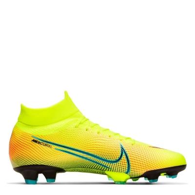 Ghete de fotbal Nike Mercurial Superfly Pro DF FG galben negru